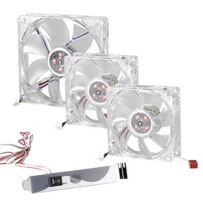 Яркие вентиляторы LED On/Off Fan с подсвесткой от Cooler Master