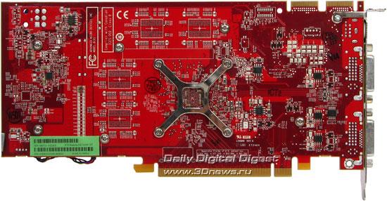ATI HD2600XT DDR4 256 MB, rear view