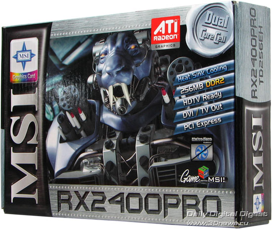 MSI RX2400Pro, front side of the box