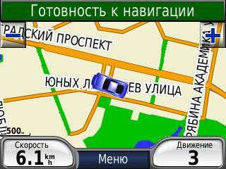 2D-карта с видом на север