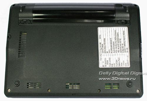 ASUS Eee PC 701 Нижняя поверхность
