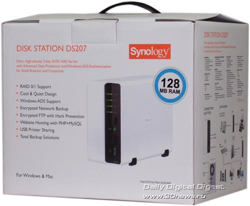 Упаковка Synology Disk Station DS207