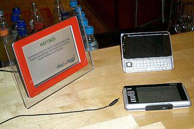Интернет-планшет Nokia N770 с дисплеем Haptikos
