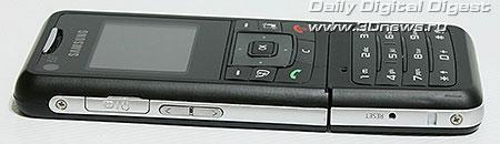 Samsung F500. Вид слева