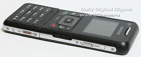 Samsung F500. Вид справа