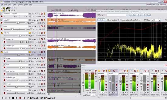 REAPER 3.161: понятный аудиоредактор