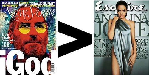 Steve Jobs и Angelina Jolie