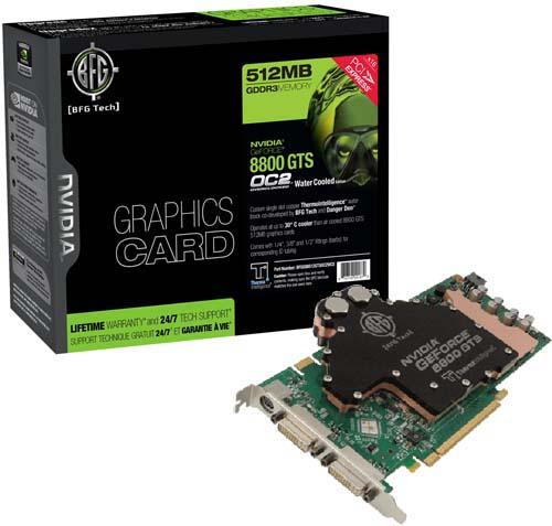 BFG NVIDIA GeForce 8800 GTS OC2 512MB Water Cooled Edition