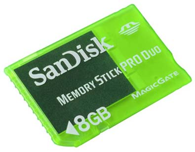 SanDisk 8GB Gaming Memory Stick PRO Duo