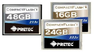 Pretec New CompactFlash Cards