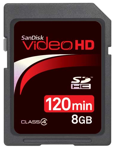 SanDisk 8GB Video HD SDHC