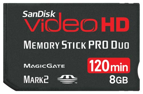 SanDisk 8GB Video HD Memory Stick PRO Duo
