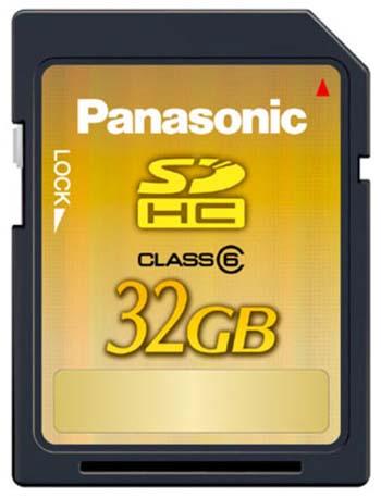 Panasonic 32GB Class 6 SDHC Card