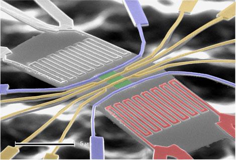 Массив нанонитей - прообраз зарядного устройства