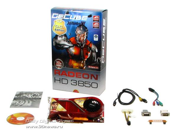 GeCube HD3850: package bundle