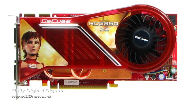 GeCube HD3850: exterior
