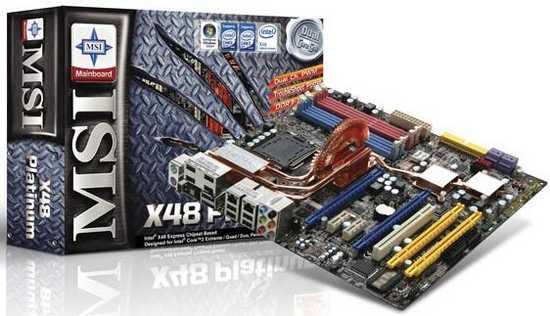 MSI X48C Platinum: Intel X48 с поддержкой DDR2 и DDR3