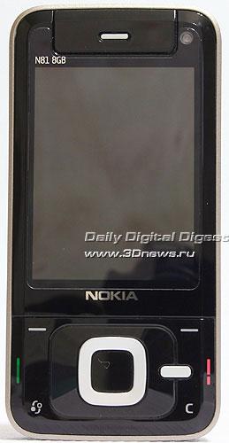 Nokia N81. Вид спереди