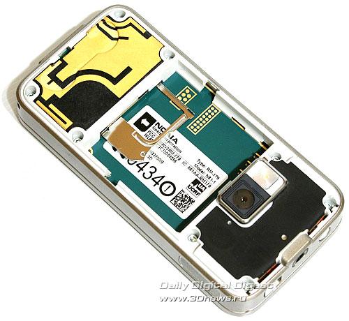 Nokia N81. Крепление SIM-карты