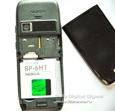 Nokia E51 Тыльная сторона