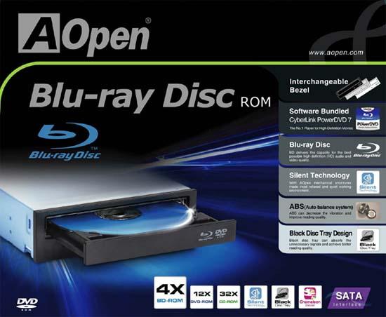 Первый Blu-ray привод от AOpen