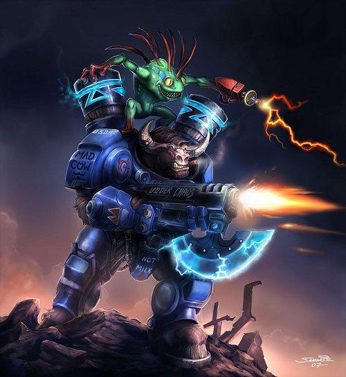 Tauren Marine.  Арт с официального сайта Blizzard.