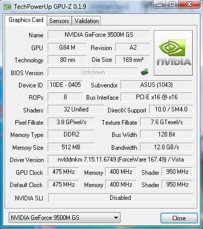 GeForce 9500M GS