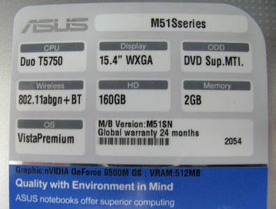 Asus M51SN