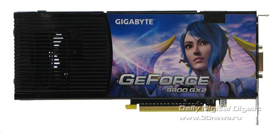 Gigabyte 9800GX2 - rear view.
