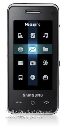 Samsung F490. Вид спереди.
