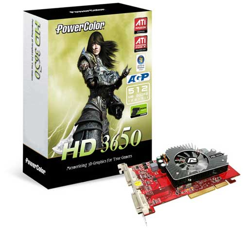 PowerColor HD 3650 512M DDR2 AGP