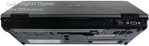 HP Compaq 6910p. Вид сзади.