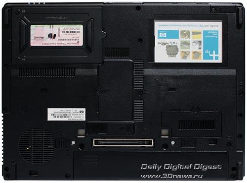 HP Compaq 6910p. Вид снизу.