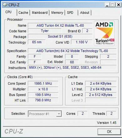 AMD Turion 64 X2 TL60 (Tyler)