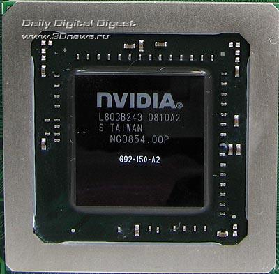 Forsa 9600 GSO Graphic processor, chip G92