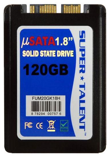 Super Talent MasterDrive KX 18-inch 120GB Micro-SATA SSD