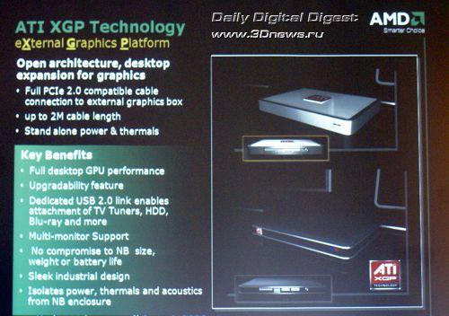 Платформа AMD Puma - XGP (External Graphics Platform) - Lasso