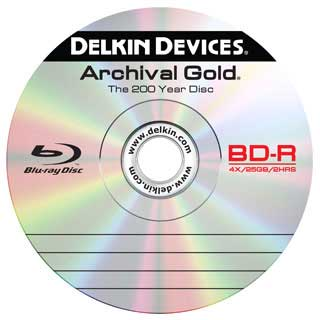 Delkin 25GB Archival Gold BD-R Disc