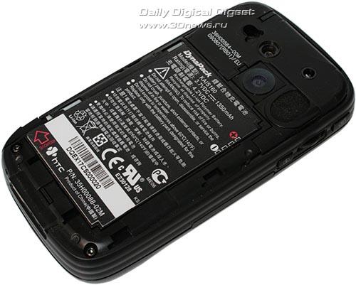 HTC TyTN II. Вид сзади со снятой крышкой