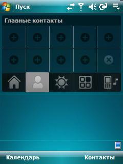 HTC TyTN II. Главные контакты
