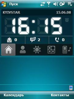 HTC TyTN II. Главное окно