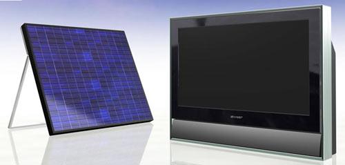 Телевизор Sharp с солнечной батареей вместо розетки