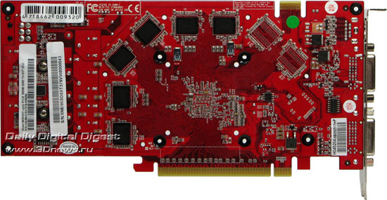 The video card without the cooling system � rear view