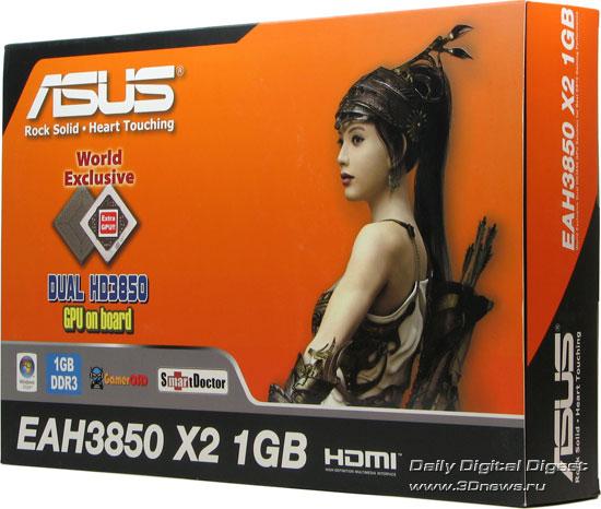 Упаковка от ASUS EAH3850 X2 – вид спереди