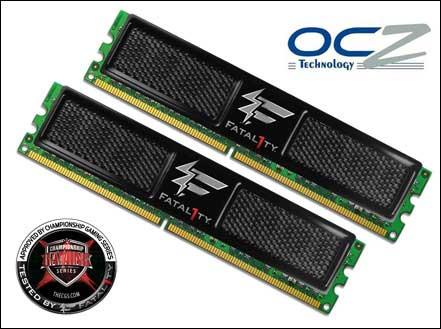 OCZ 2GB DDR2 PC2-8500 Fatal1ty Edition Memory Kit