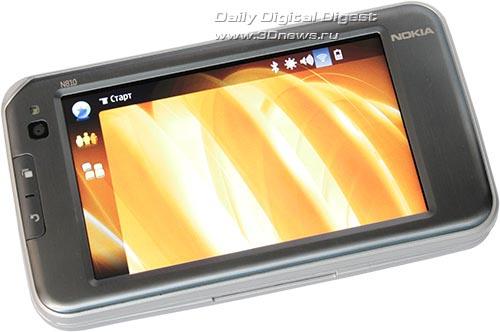 Nokia N810. Вид спереди