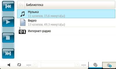 Nokia N810. Проигрыватель