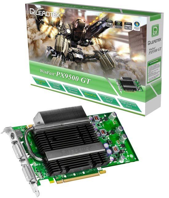 Leadtek WinFast PX9500 GT GDDR3 Heatpipe Edition