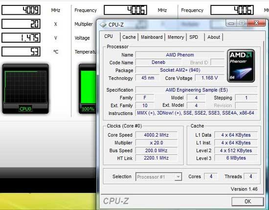 AMD Deneb - 4ГГц