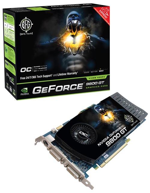 BFG NVIDIA GeForce 9800 GT OC 512MB